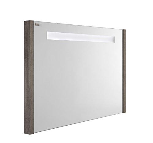 VALENZUELA Roma 32 Inch LED Backlit Bathroom Bathroom Vanity Mirror, Wall Mount, Ash Finish (VELU08090E) by DAX