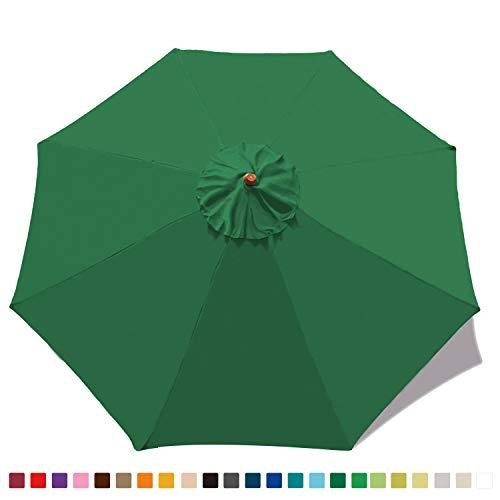 ABCCANOPY 9ft Market Umbrella Replacement Patio Umbrella Top Outdoor Umbrella Canopy 8 Ribs 23+ Colors (Replacement Umbrella Canopy For 9ft 8 Ribs)