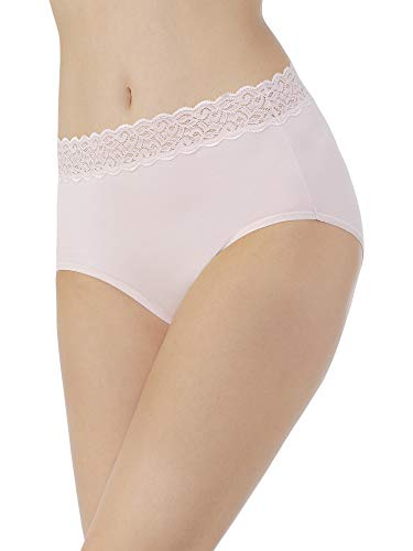 Vanity Fair Women's Flattering Lace Cotton Stretch Brief Panty 13396, Sheer Quartz, X-Large/8 ()