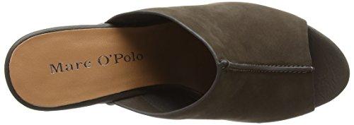 Marc O'Polo High Heel Peeptoe - Sandalias de Plataforma Mujer Dark Grey