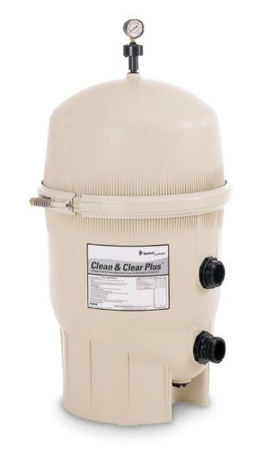 Pentair De Filters - Pentair 160301 Clean & Clear Plus Fiberglass Reinforced Polypropylene Tank Cartridge Pool Filter, 420 Square Feet, 150 GPM (Residential)
