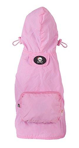 fabdog Packable Dog Raincoat Light Pink (Large) by fabdog