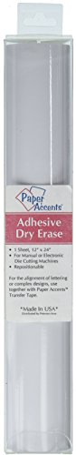 Vinyl ADV50094 12x24 Removable Adh Dry Erase White 1pc Pkg (Dry Erase Vinyl)