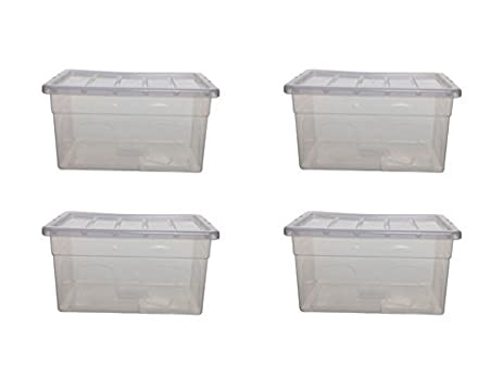 PLASTIC STORAGE BOXES BOX CONTAINERS 35 LTR LITRE SET PACK LID CLEAR TRANSPARENT (4 BOX  sc 1 st  Amazon.com & Amazon.com: PLASTIC STORAGE BOXES BOX CONTAINERS 35 LTR LITRE SET ... Aboutintivar.Com