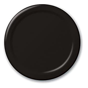 Bulk Value 10 Inches Plastic Plates Black Package of 50  sc 1 st  Amazon.com & Amazon.com: Bulk Value 10 Inches Plastic Plates Black Package of 50 ...