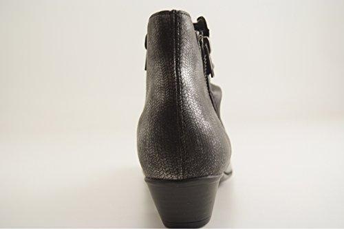 Remonte Damen Stiefeletten schwarz/schwarz-silb (schwarz) D7382-03 schwarz/schwarz-silb