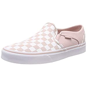 Vans Women''s Asher Classic Checkerboard Slip On Trainers
