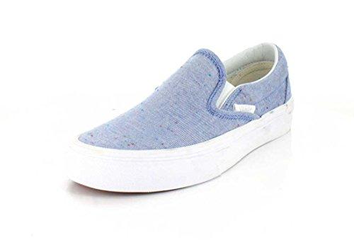 Sneaker Slip-on In Jersey Specchiato Da Donna, Blu / Bianco