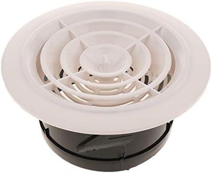 perfk エアベント 換気グリル 通気孔の出口グリルの換気カバー 通気孔 換気 気流調節 汎用 - DN125