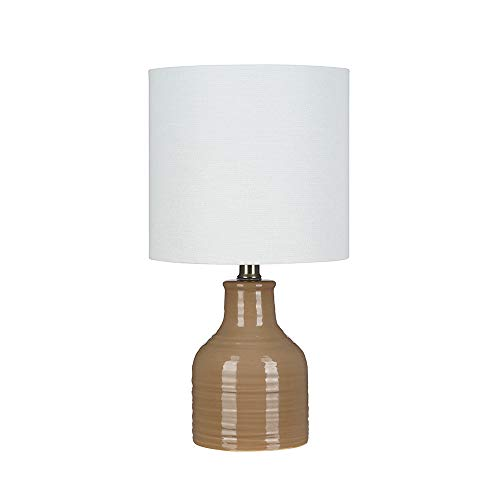 "Stone & Beam Ceramic Table Lamp, Bulb Included, 16""H, Tan"