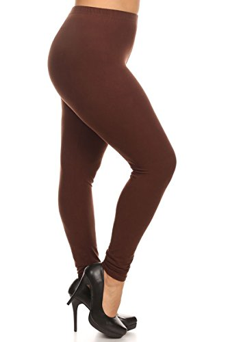 Solid Leggings (BROWN-SXL128)