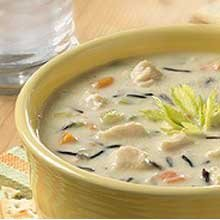 Blount Seafood Creamy Chicken and Wild Rice Soup, 4 Pound - 4 per case.
