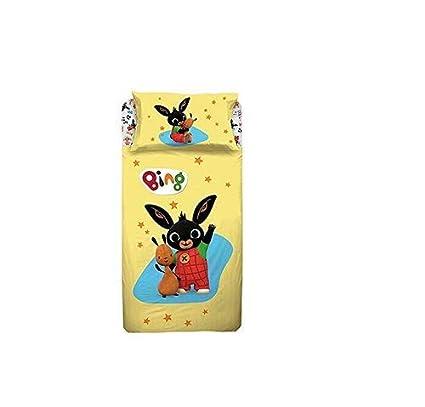 43b42877bc Russo Tessuti Completo Letto Lenzuola Singolo 1 Piazza Bing Bunny 100%  Cotone Giallo: Amazon.it: Casa e cucina