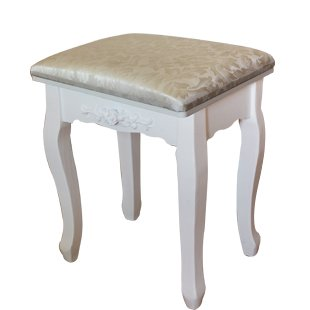Stool Dana Carrie Green salad dressing chair fabrics small party of white dressing table solid wood changing shoes bench, Ivory