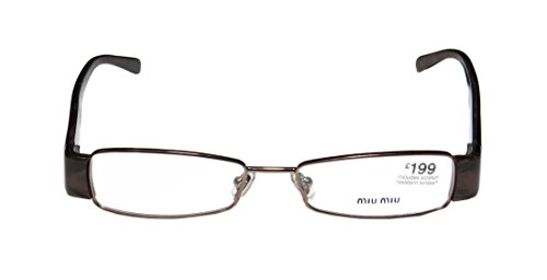 Miu Miu Vmu63e WomensLadies Designer Full-rim EyeglassesEyeglass Frame (50-16-135 Brown  Marble)