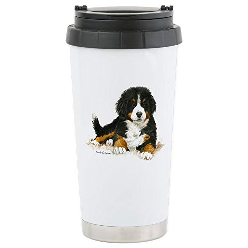 - CafePress Bernese Mountain Dog Bright Eyes Travel Mug Stainless Steel Travel Mug, Insulated 16 oz. Coffee Tumbler