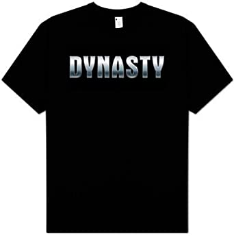 Amazon.com: Dynasty Tv Show T-shirt - Shiny Logo Adult Black Tee ...