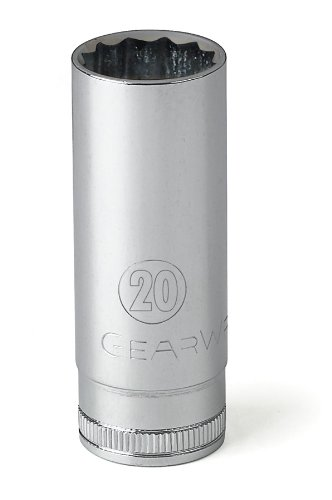 GEARWRENCH 80788 1//2-Inch Drive 12 Point Deep Socket 17mm