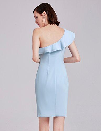 Pretty Femme Ever Col Robe Bleu 07203 V Soire lgante C Volants de dIq4CZqxw