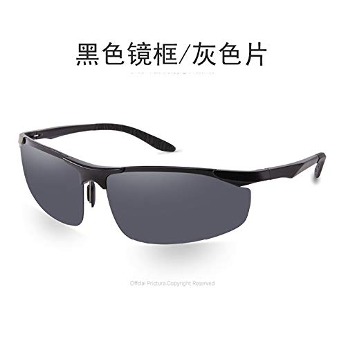 de de magnésium Soleil Mode de Homme en Mjia Sports pour de Lunettes polarisées Lunettes de sunglasses Plein air Lunettes Aluminium Soleil Miroir black Sport qSBwa1U