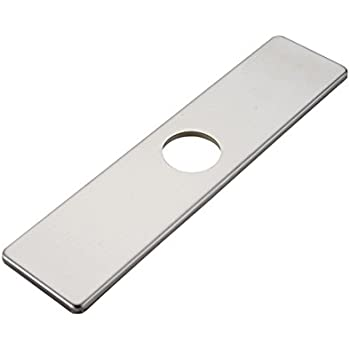 bwe square 10 inch kitchen sink faucet hole cover deck plate escutcheon brushed nickel
