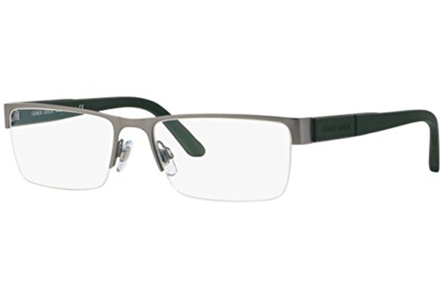Matte de Montures Matte lunettes Gunmetal Homme Pour Armani Giorgio Black 3090 5044 EvfqBHOwp