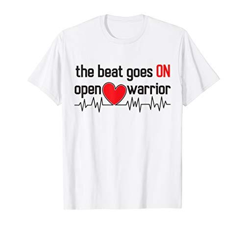 Post Heart Surgery T-Shirt Open Heart Warrior (Recovery Time For Triple Bypass Heart Surgery)