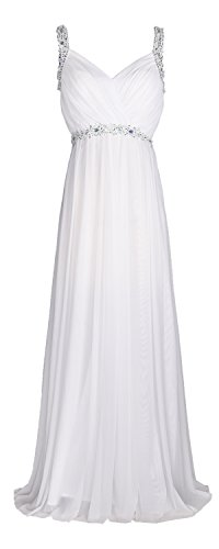 - conail Coco Women's Elegant Royal Formal Dresses Wear Long Wedding Party Gowns (Medium,White)