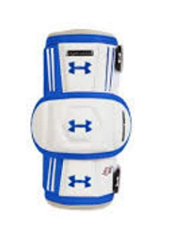 Under Armour UA Player Pro T2 Lacrosse Arm Guards LAX Sports Injury Protective Pads Safety Gear Boy's Medium (Royal Blue/White) – DiZiSports Store