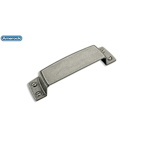 Amerock Highland Ridge 3-1/2 in. (89mm) Drawer Pull Aged Pewter - BP55318AP (Highland Ridge Cabinet)
