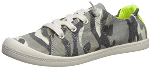 Price comparison product image Madden Girl Women's BAAILEY Sneaker,  Light Grey Camo,  8 M US