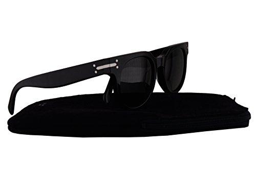 Celine CL41080/S Sunglasses Black w/Dark Grey Lens 807BN CL - Black Sunglasses Original Celine