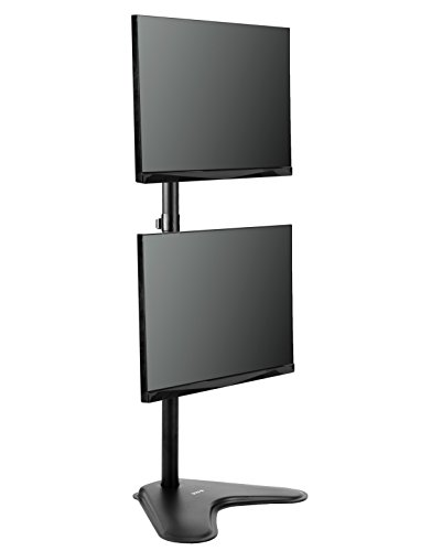 VIVO Dual Monitor Desk Stand Free-standing LCD mount, Holds in Vertical Position 2 Screens up to 30