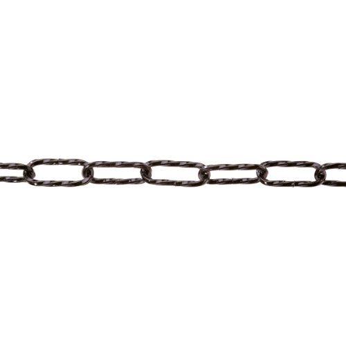Efn Lamp - pewag 29818 Chain for Lamps or for Decoration - Twisted Links - 4 x 37 mm - Black