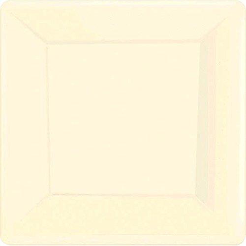 Vanilla Crème Square Paper Plates | 10