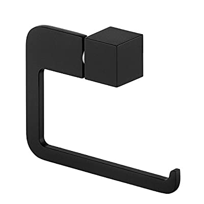 Stainless Steel Toilet Paper Roll/Towel Holder| Sleek Black Rubber Paint Plating| A Stylish Installment Of The Burghead Collection| Luxurious Quality Bathroom Accessories By MARMOLUX ACC