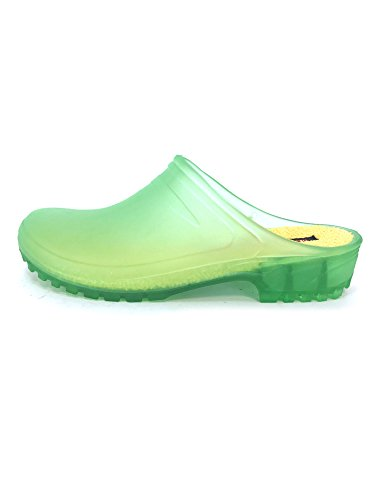 Cult PVC Vintage 100 in Clogs Zoccoli Verde Italy CLX Made SqSwrTxE