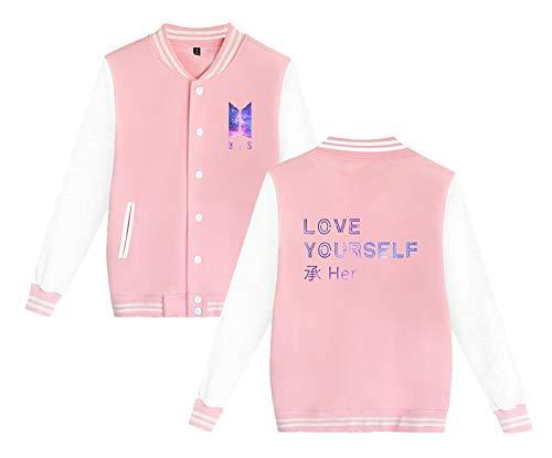 Hipster Baseball Bts Unisexe Vestes Boutons Jacket Plus Avec Haililais Couples Manteaux Veste Outwear Manteau Tailles 5wIqRvd