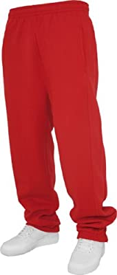 Urban Classics Men's TB014B Sweatpants M Red