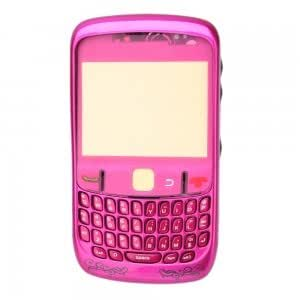 Cell Accessory Full Housing and Keypad for BlackBerry Curve 8520 Rose Flower + Free Tools