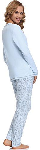 Italian Fashion IF Lactancia Pijama Camisón para mujer Liwia Mama 0223 Azul