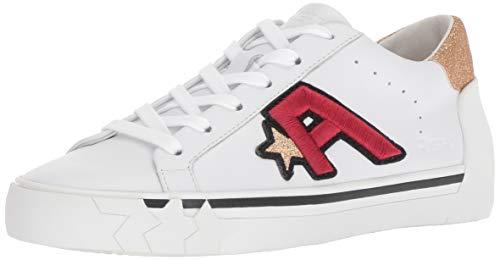 Ash Women's Next Sneaker, Nappa Calf White/Micro Glitter Gold, 39 M EU (9 US) ()