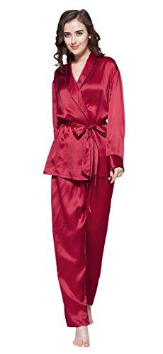da Set Violetto 22 pigiama Rosso di Seta LILYSILK Donna momme qCwExqSd