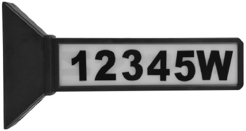(Moonrays 91919 2-Sided Solar Address Sign, Black)