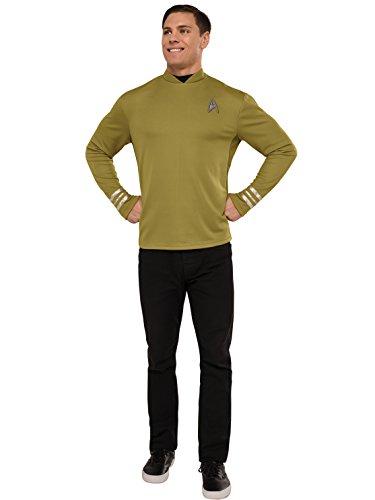 Star Trek Next Generation Costume Amazon (Rubie's Costume Co. Men's Star Trek: Beyond Captain Kirk Costume Shirt, As Shown, Standard)