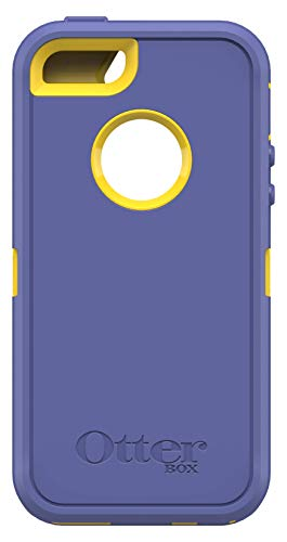 OtterBox Defender Series Case for Apple iPhone SE, iPhone 5s, iPhone 5 - (Case Only, No Holster) Non-Retail Packaging - Sienna Blue/Sun Yellow (Iphone Case Defender 5)