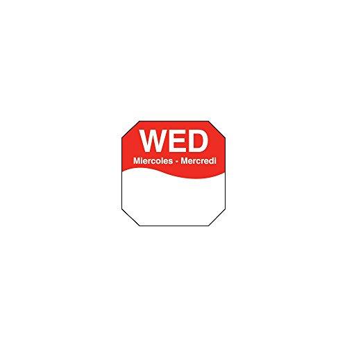 DayMark 1100603 Trilingual Octagonal 1'' Wednesday Label - 1000 / RL by DayMark Safety Systems