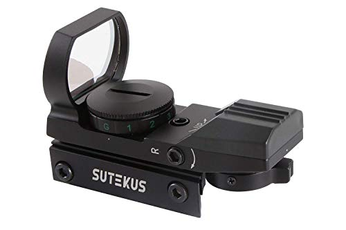 - Sutekus Red&Green Dot Sight Reflex Holographic Tactical Riflescope Point Location 2 Colors 4 Retical Patterns with 0.8inch(20mm) Rail Mount