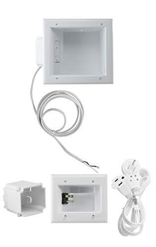 Datacomm Electronics Recessed TV Cable & Media Organizer Kit