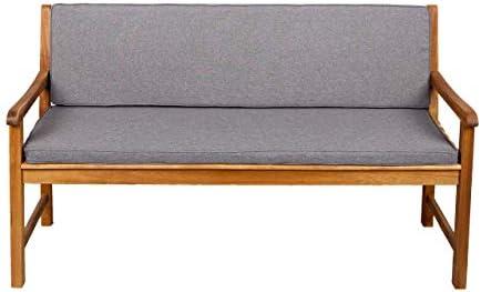Bankauflage Für Hollywoodschaukel Set Glatt Sitzkissen + Rückenlehne FK5 (180x50x50, Hellgrau)